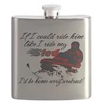 Ride Him Like My Sled Flask
