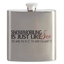 Snowmobiling like sex Flask