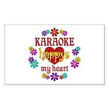 Karaoke Happy Decal