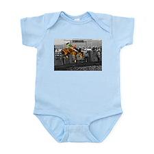 Rodeo Cowboy In Green Infant Bodysuit