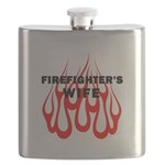 Firefighters Wife Flames Flask