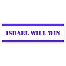 """""""Israel Will Win"""" Bumber Bumper Sticker"""
