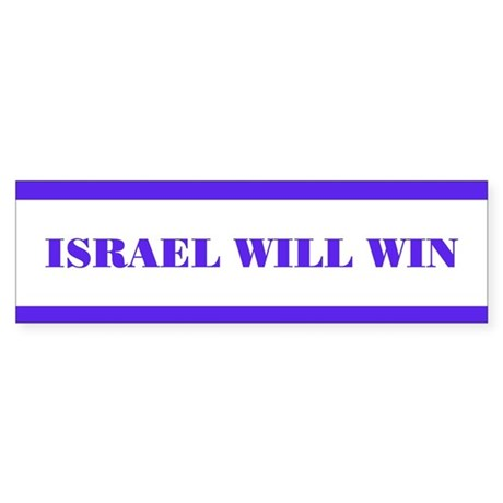 """Israel Will Win"" Bumber Sticker"