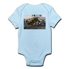 Brave Rodeo Cowboy Kicking Up The Dust Infant Body