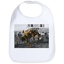 Brave Rodeo Cowboy Kicking Up The Dust Bib