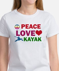 Peace Love Kayak Designs Tee