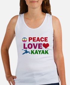 Peace Love Kayak Designs Women's Tank Top