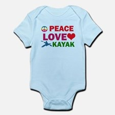 Peace Love Kayak Designs Infant Bodysuit