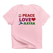 Peace Love Kayak Designs Infant T-Shirt