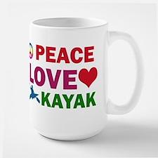 Peace Love Kayak Designs Mug