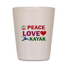 Peace Love Kayak Designs Shot Glass