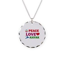 Peace Love Kayak Designs Necklace