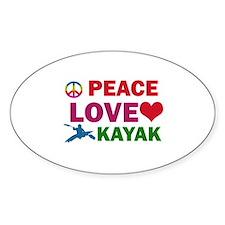 Peace Love Kayak Designs Decal