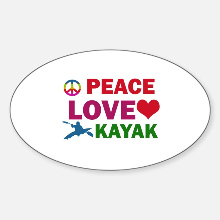 Peace Love Kayak Designs Decal