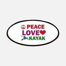 Peace Love Kayak Designs Patches