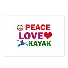 Peace Love Kayak Designs Postcards (Package of 8)