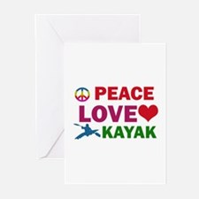 Peace Love Kayak Designs Greeting Cards (Pk of 20)