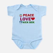 Peace Love Kick Box Designs Infant Bodysuit