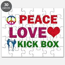 Peace Love Kick Box Designs Puzzle