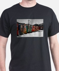 Many Vintage Gas Pumps Standing To Attention T-Shirt