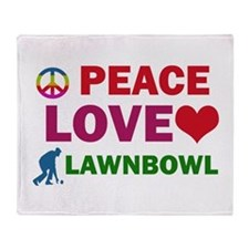 Peace Love Lawnbowl Designs Throw Blanket