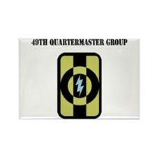 49th Quartermaster Group with Text Rectangle Magne