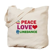 Peace Love linedance Designs Tote Bag