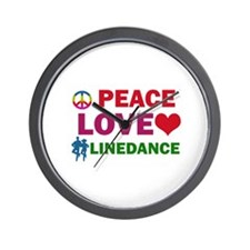 Peace Love linedance Designs Wall Clock