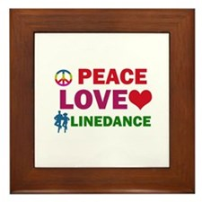 Peace Love linedance Designs Framed Tile