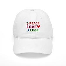 Peace Love Luge Designs Baseball Cap