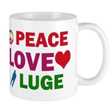 Peace Love Luge Designs Mug