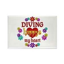 Diving Happy Rectangle Magnet (100 pack)