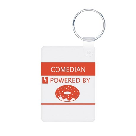 Comedian Powered By Doughnuts Aluminum Photo Keych