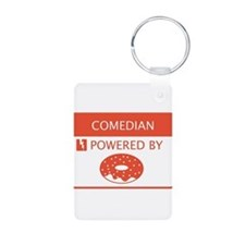 Comedian Powered By Doughnuts Keychains