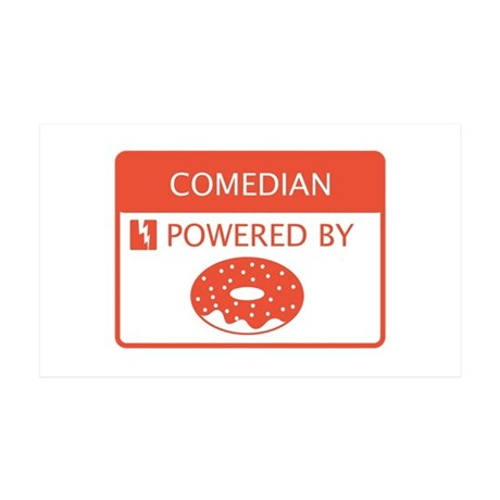 Comedian Powered By Doughnuts 35x21 Wall Decal