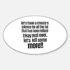 Minute silence Sticker (Oval)