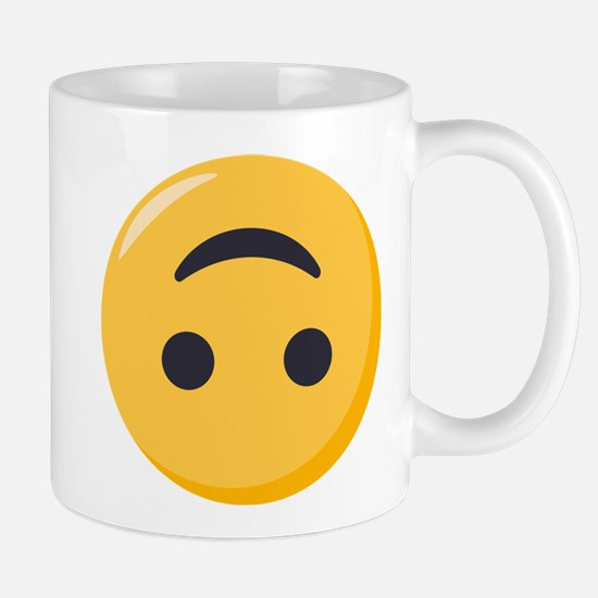 Emoji Upside Down Smiling Face Mug