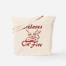 Delores On Fire Tote Bag
