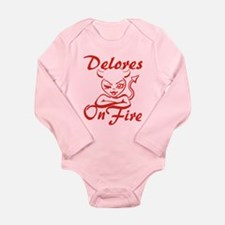 Delores On Fire Long Sleeve Infant Bodysuit