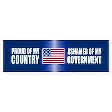 ASHAMED OF MY GOVERNMENT Bumper Bumper Bumper Sticker