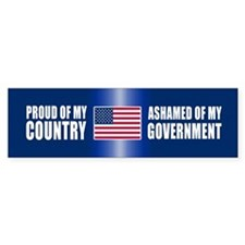 ASHAMED OF MY GOVERNMENT Bumper Bumper Sticker