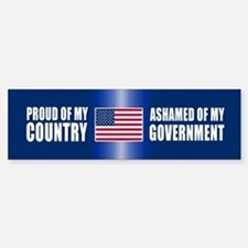 ASHAMED OF MY GOVERNMENT Bumper Bumper Stickers