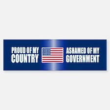 ASHAMED OF MY GOVERNMENT Bumper Car Car Sticker
