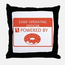 Chief Operating Officer Powered by Doughnuts Throw