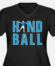 Handball player Women's Plus Size V-Neck Dark T-Sh