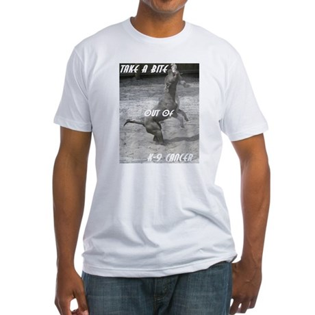 Help Fight Sock-M's cancer Fitted T-Shirt