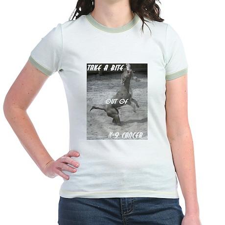 Help Fight Sock-M's cancer Jr. Ringer T-Shirt