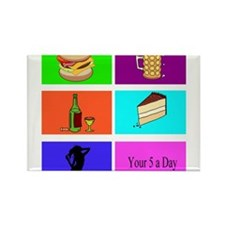 your 5 a day Rectangle Magnet (100 pack)