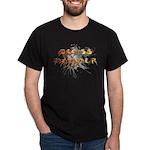 Fire/Chrome Glass Hammer Splash Logo Black T-Shirt
