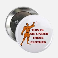 """Cute Fitness model 2.25"""" Button (10 pack)"""